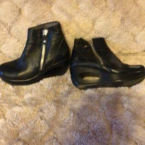 Fly London zipper wedge boots